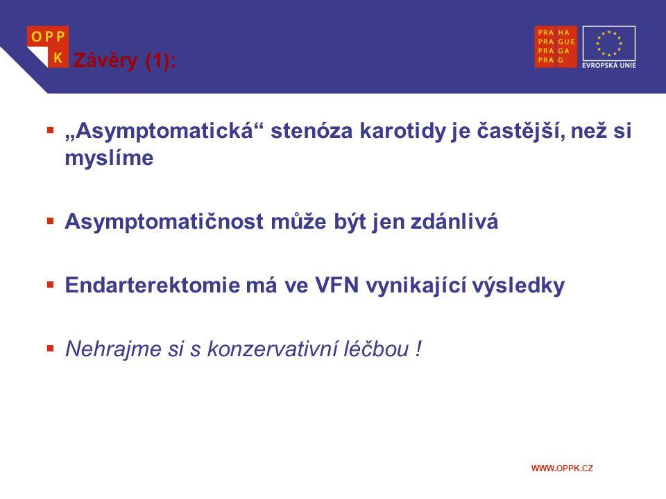 """""""Asymptomatická stenóza karotidy je častější, než si myslíme"""