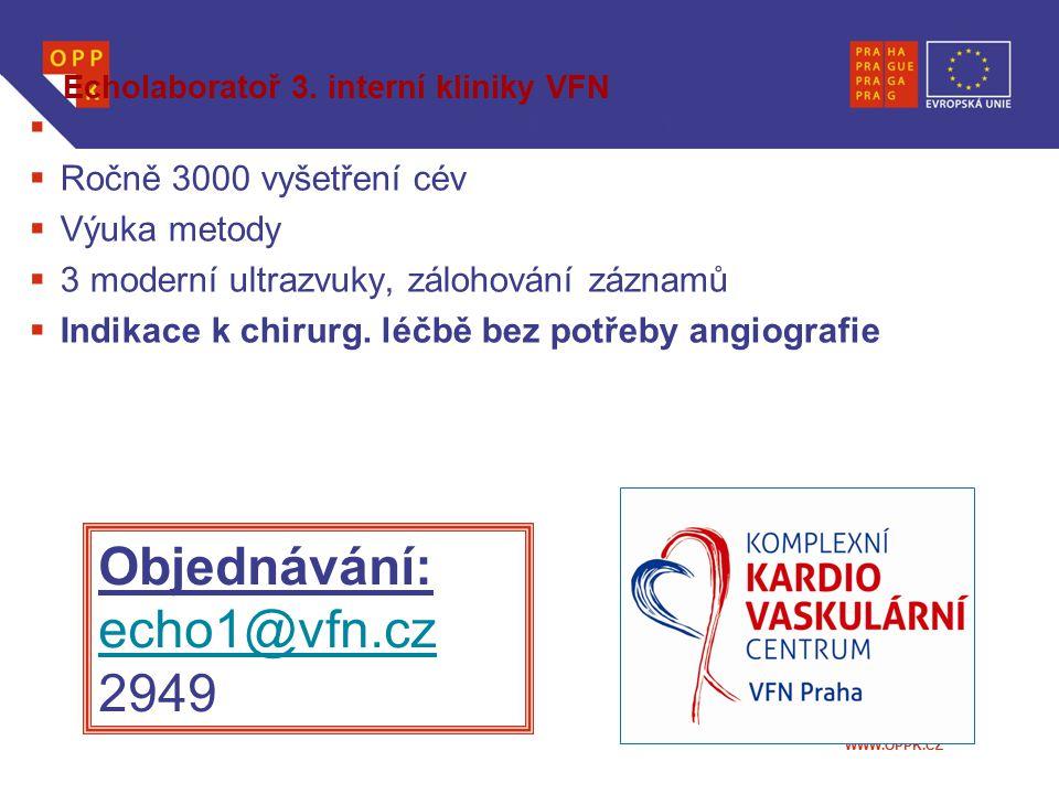 Echolaboratoř 3. interní kliniky VFN
