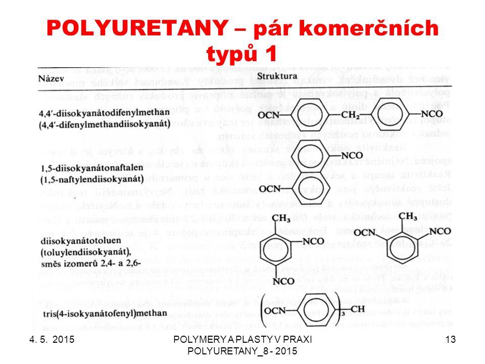 POLYURETANY – pár komerčních typů 1