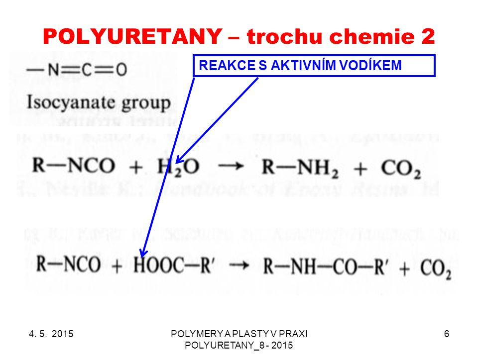 POLYURETANY – trochu chemie 2