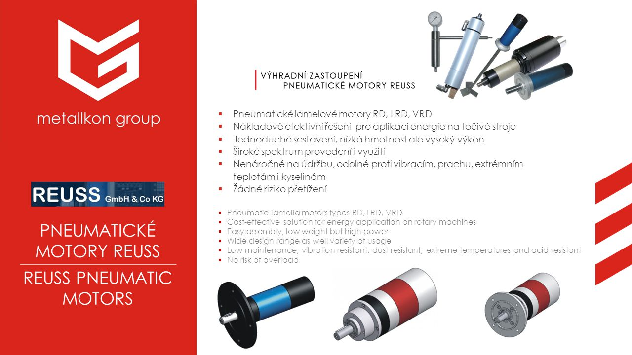 REUSS PNEUMATIC MOTORS