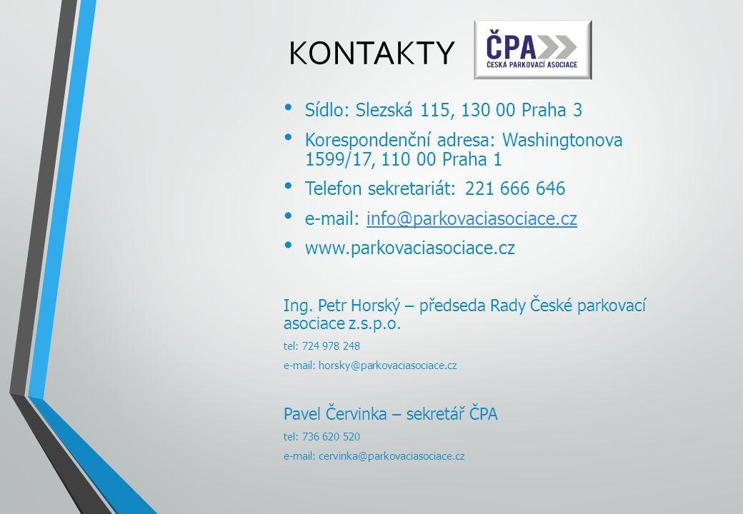 Kontakty Sídlo: Slezská 115, 130 00 Praha 3