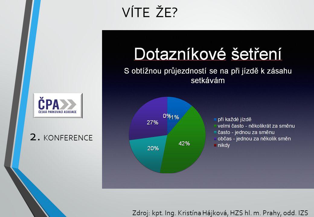 Víte že 2. konference Zdroj: kpt. Ing. Kristína Hájková, HZS hl. m. Prahy, odd. IZS