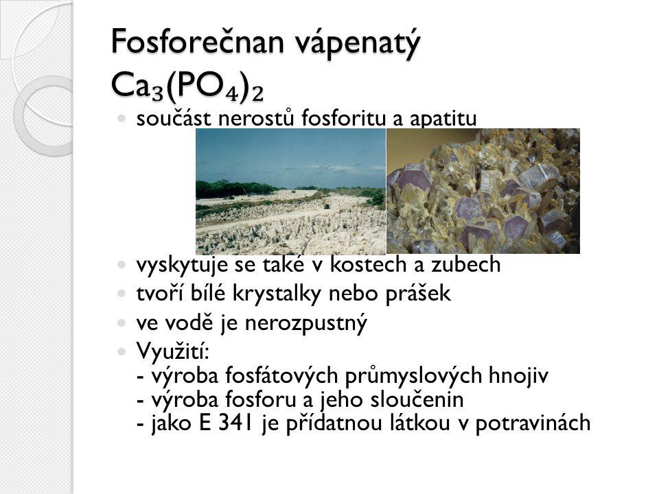 Fosforečnan vápenatý Ca₃(PO₄)₂
