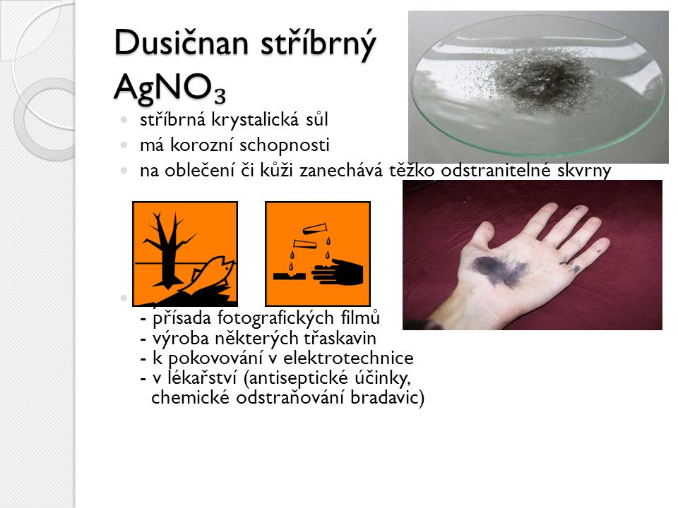 Dusičnan stříbrný AgNO₃