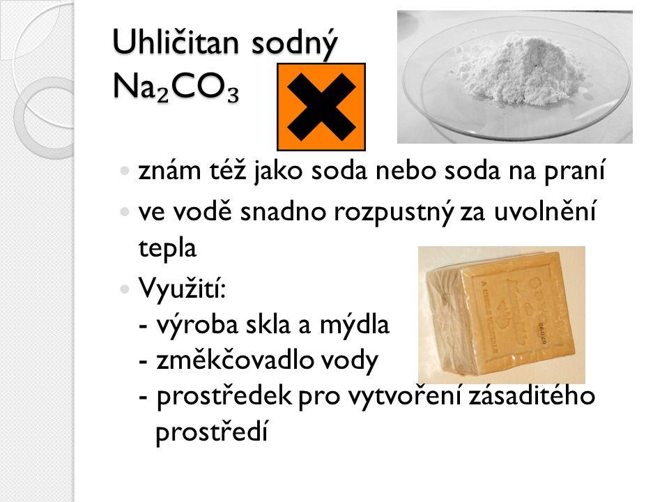 Uhličitan sodný Na₂CO₃