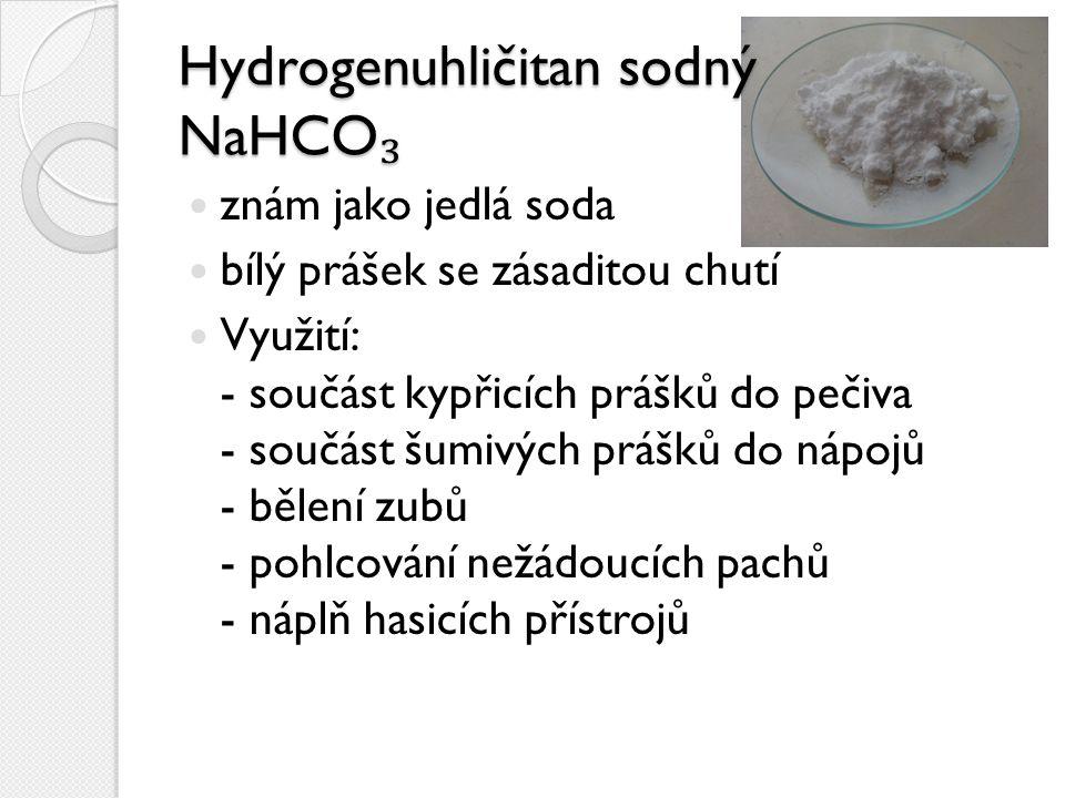 Hydrogenuhličitan sodný NaHCO₃