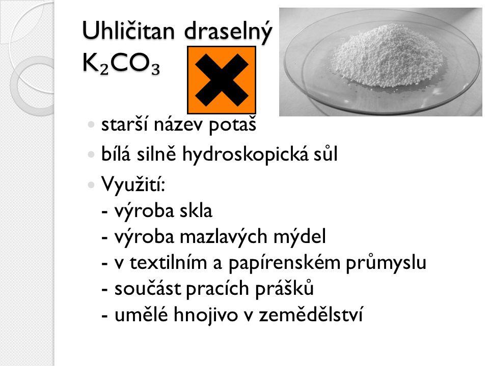 Uhličitan draselný K₂CO₃