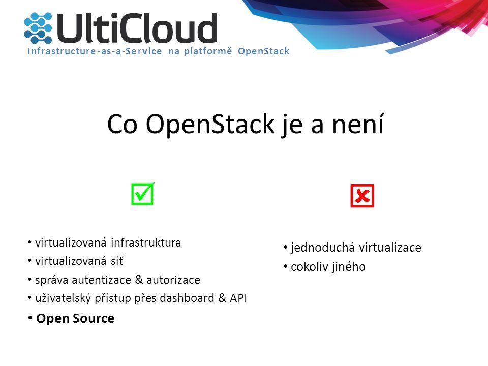  Co OpenStack je a není  Open Source jednoduchá virtualizace