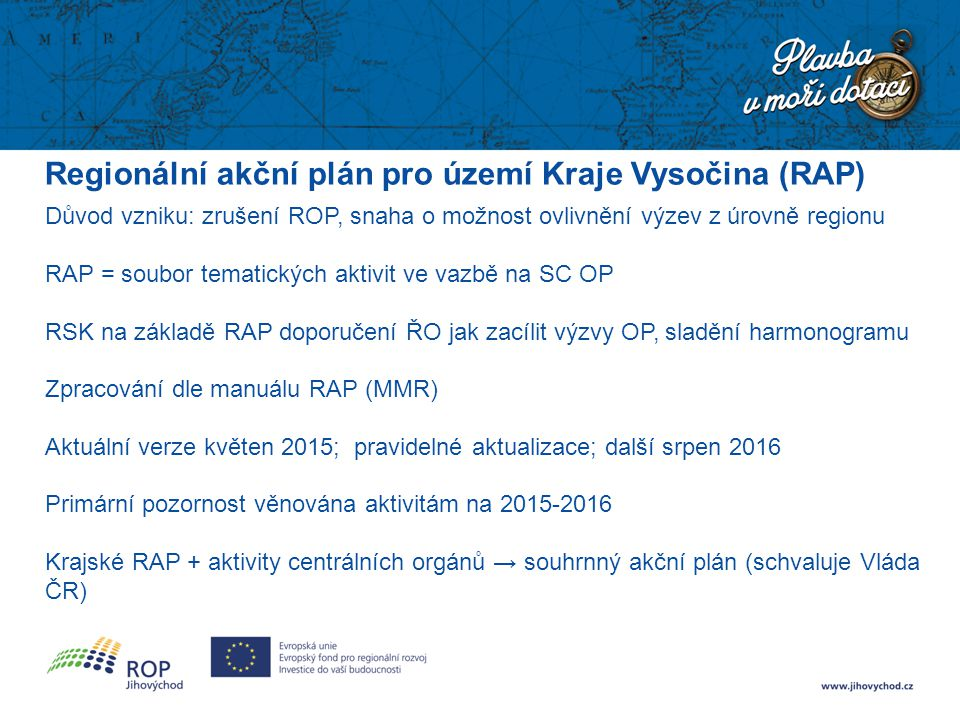 Regionální akční plán pro území Kraje Vysočina (RAP)