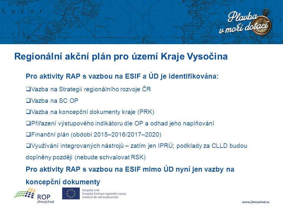 Regionální akční plán pro území Kraje Vysočina