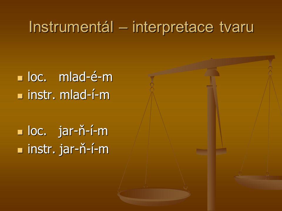 Instrumentál – interpretace tvaru