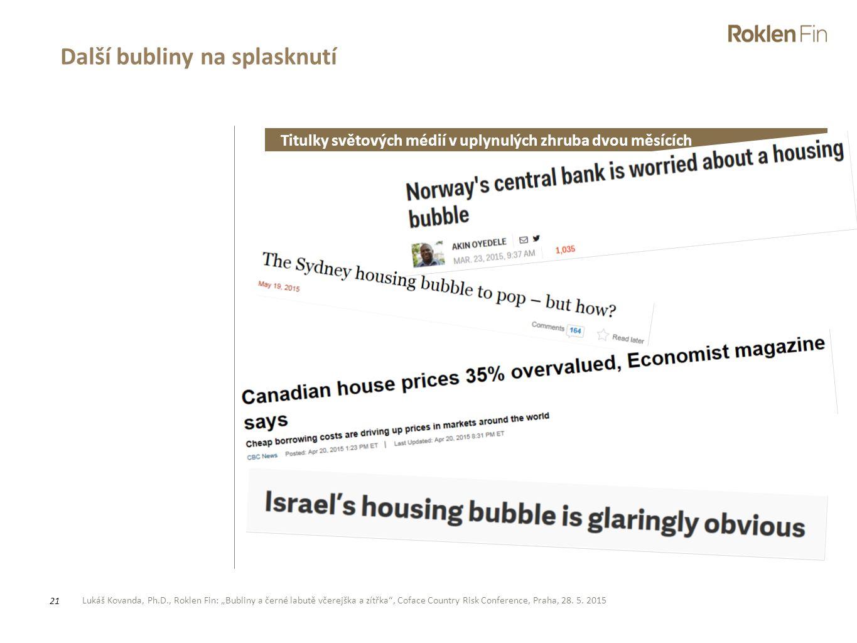 Další bubliny na splasknutí