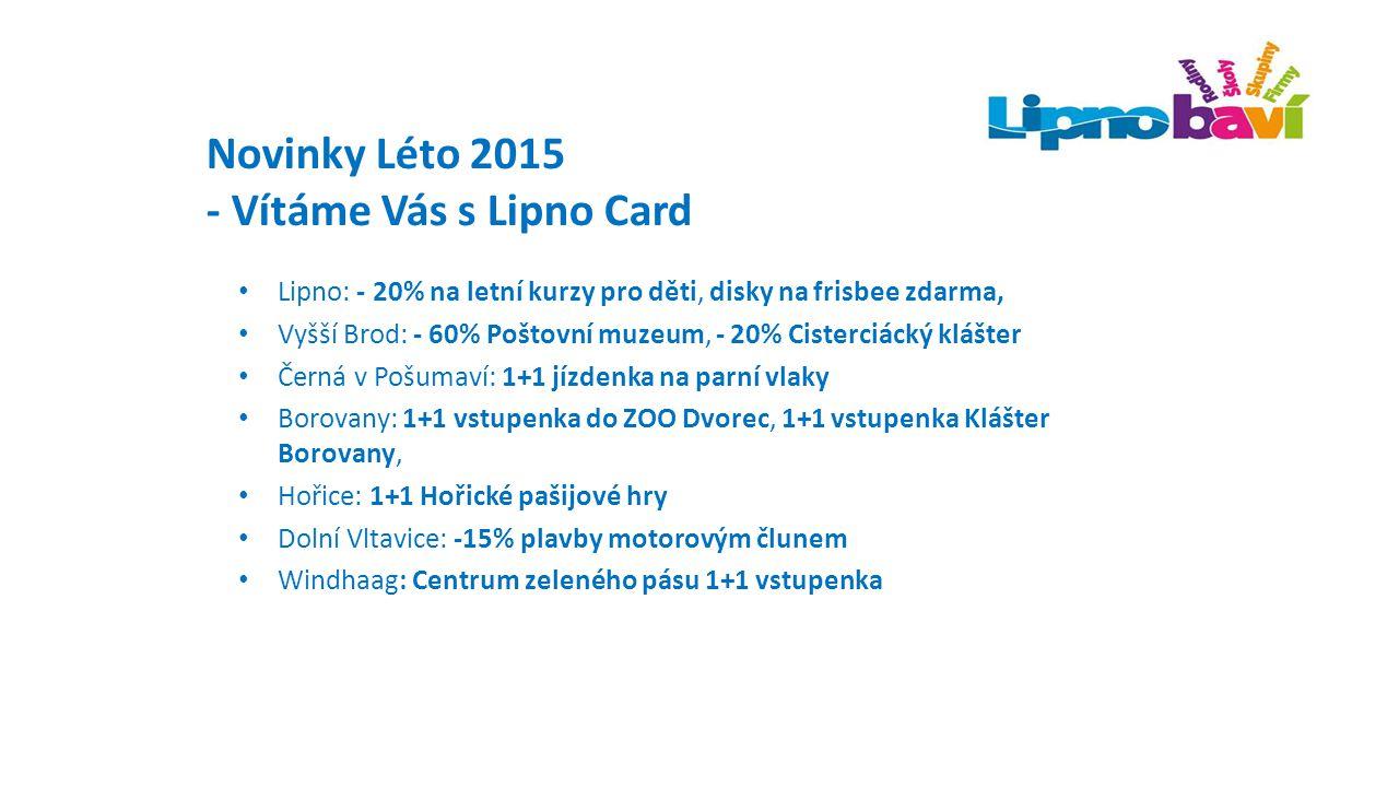 - Vítáme Vás s Lipno Card