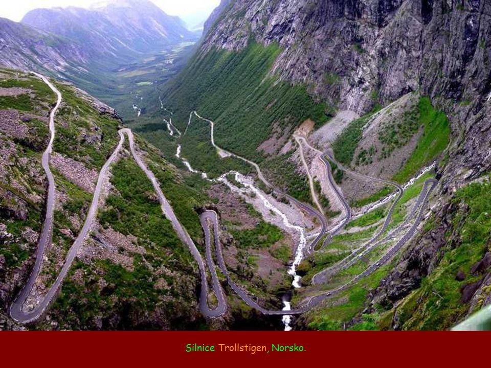 Silnice Trollstigen, Norsko.