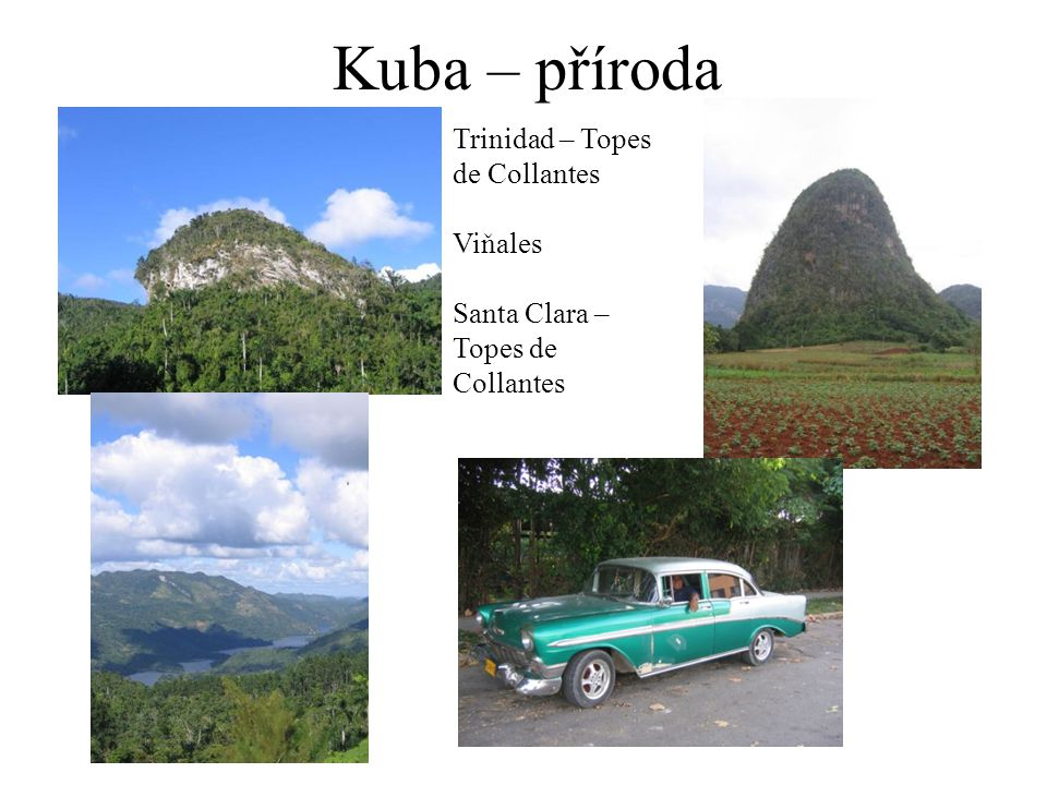 Kuba – příroda Trinidad – Topes de Collantes Viňales