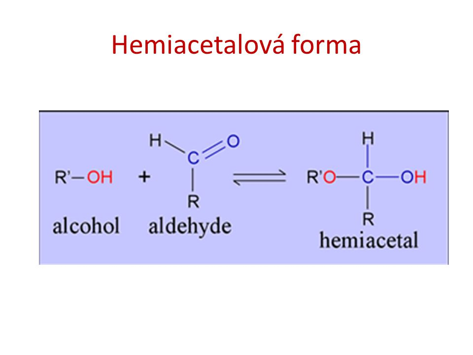 Hemiacetalová forma
