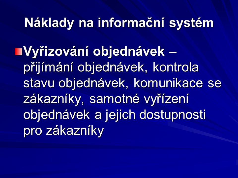 Náklady na informační systém