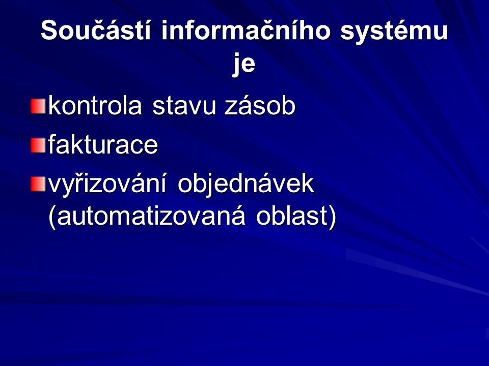 Součástí informačního systému je