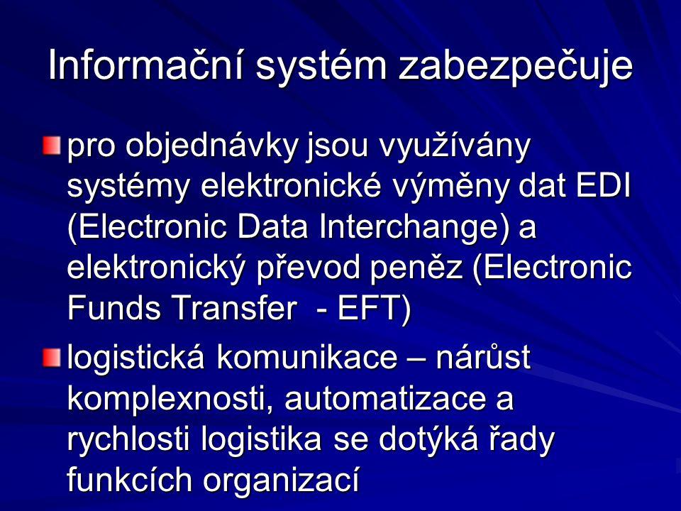 Informační systém zabezpečuje