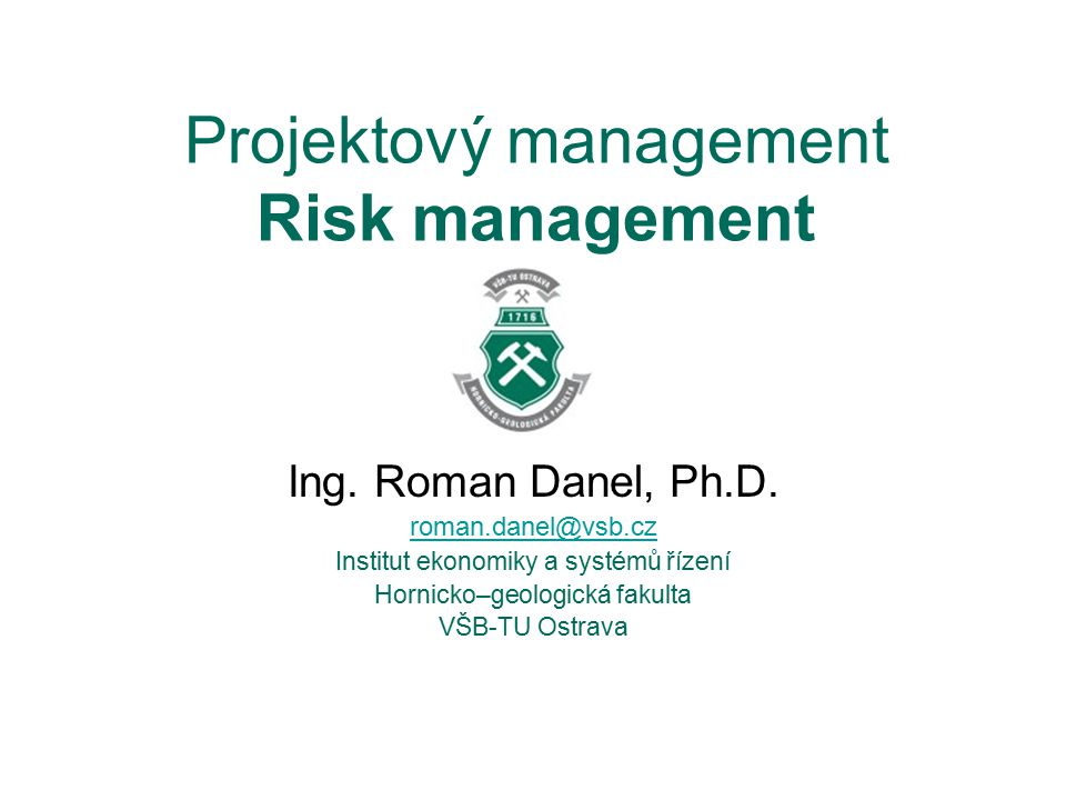 Projektový management Risk management