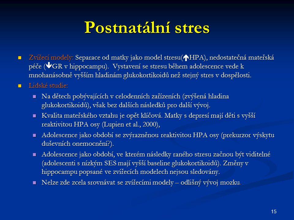 Postnatální stres