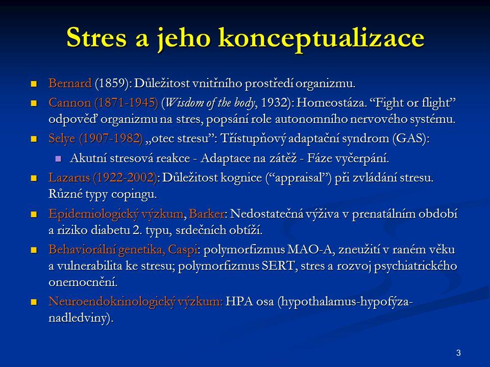 Stres a jeho konceptualizace