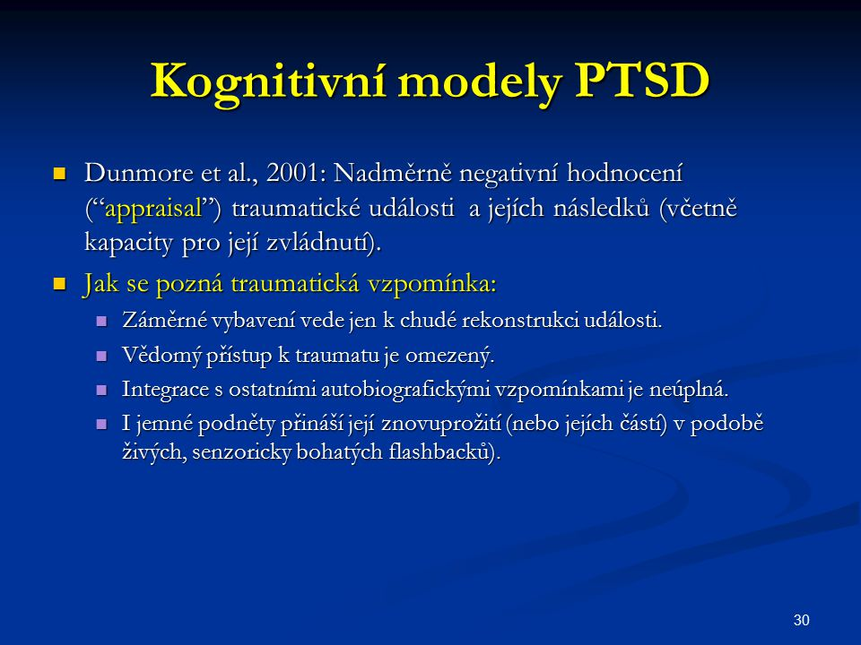 Kognitivní modely PTSD