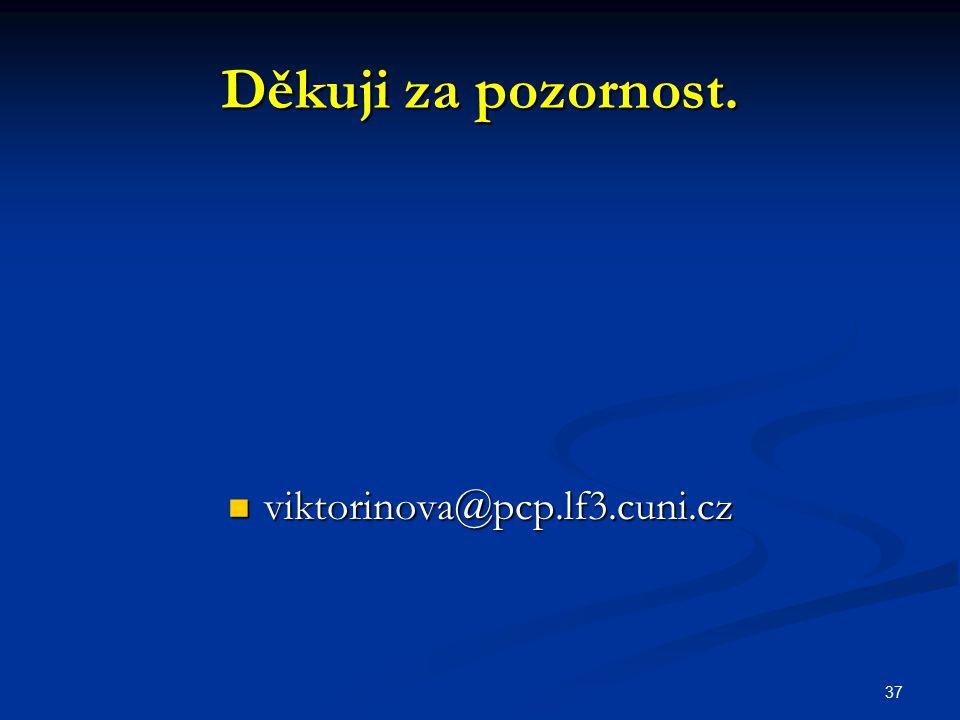 Děkuji za pozornost. viktorinova@pcp.lf3.cuni.cz 37