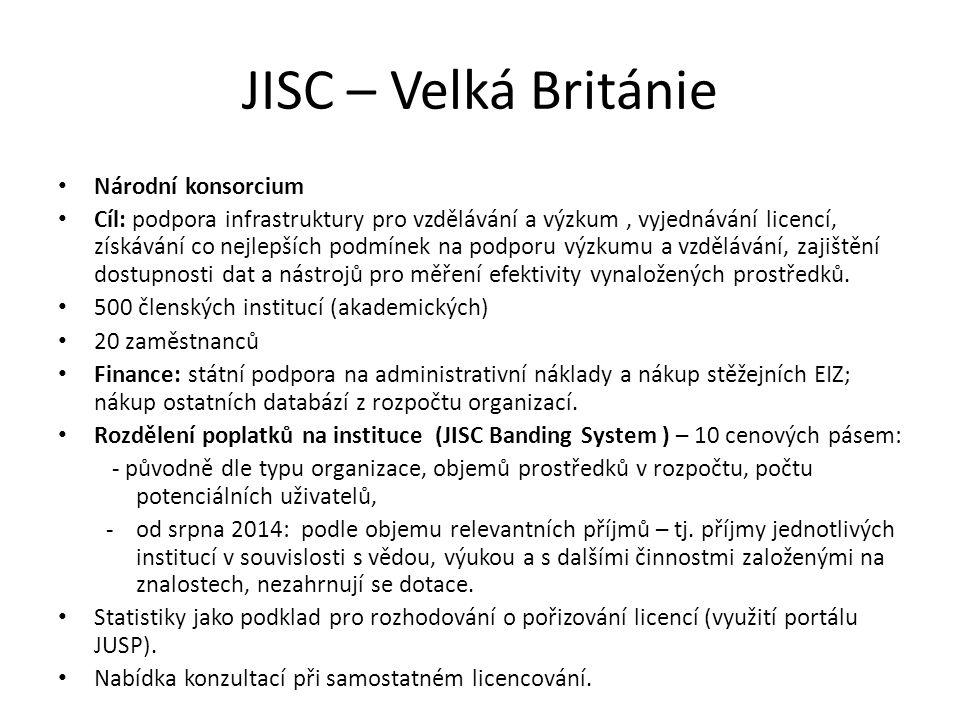 JISC – Velká Británie Národní konsorcium