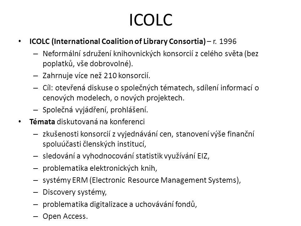 ICOLC ICOLC (International Coalition of Library Consortia) – r. 1996