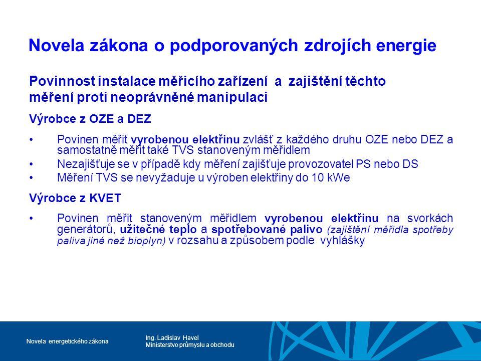 Novela zákona o podporovaných zdrojích energie