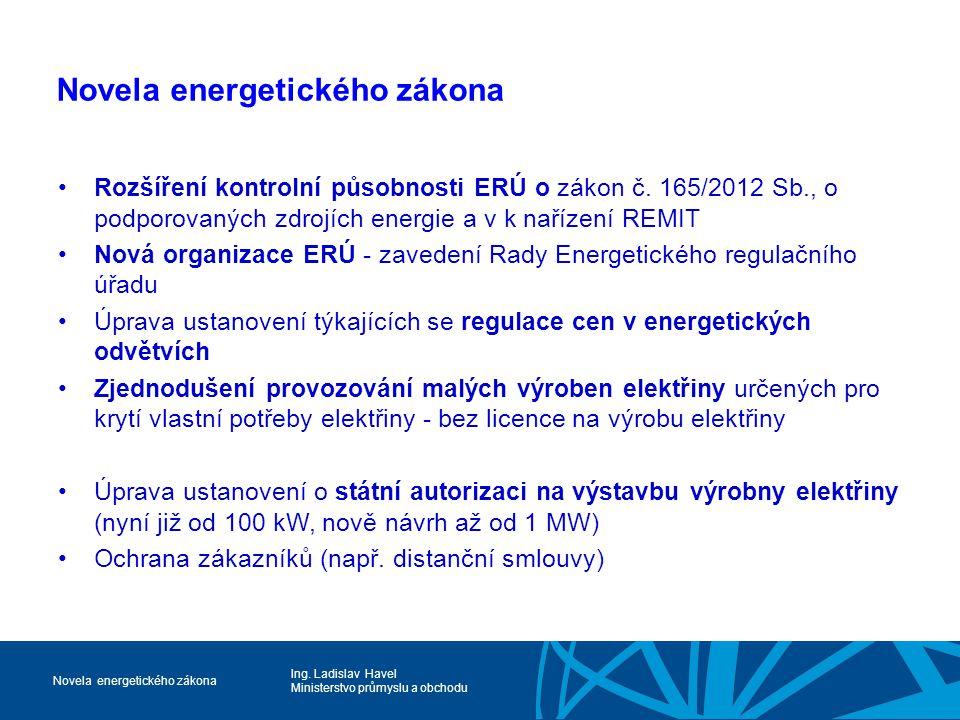 Novela energetického zákona
