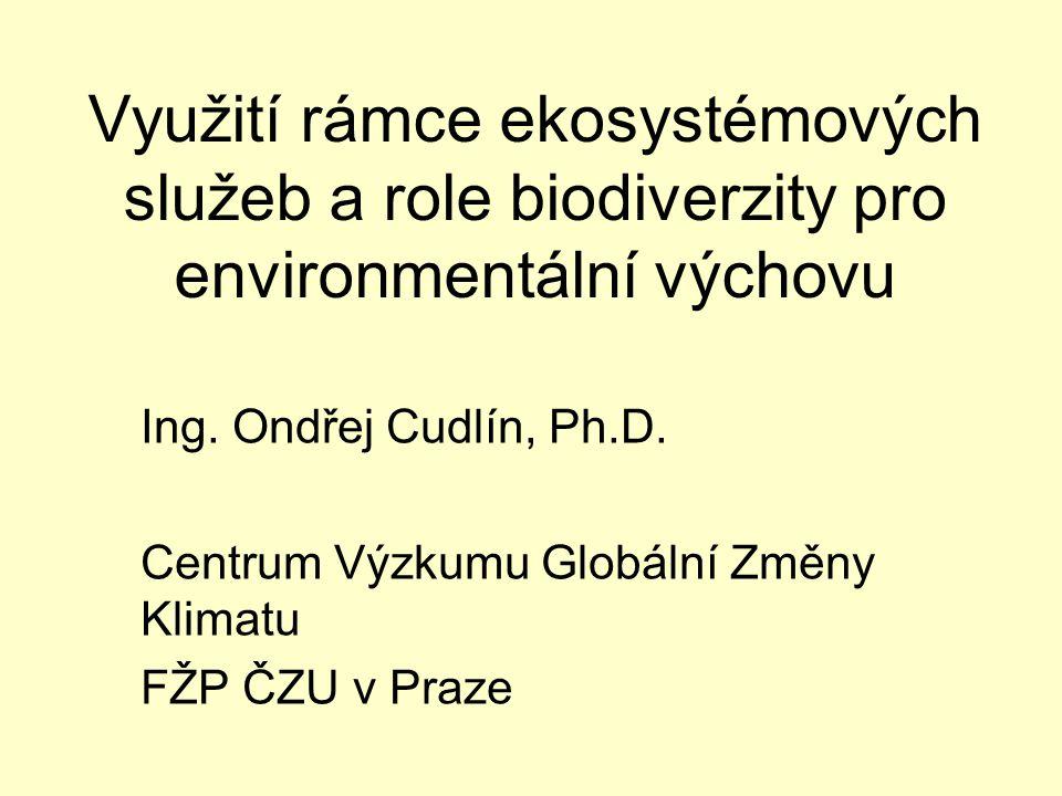 Využití rámce ekosystémových služeb a role biodiverzity pro environmentální výchovu