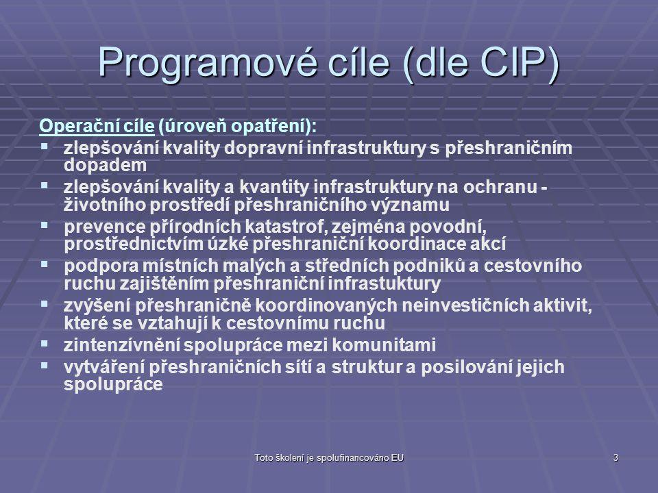 Programové cíle (dle CIP)