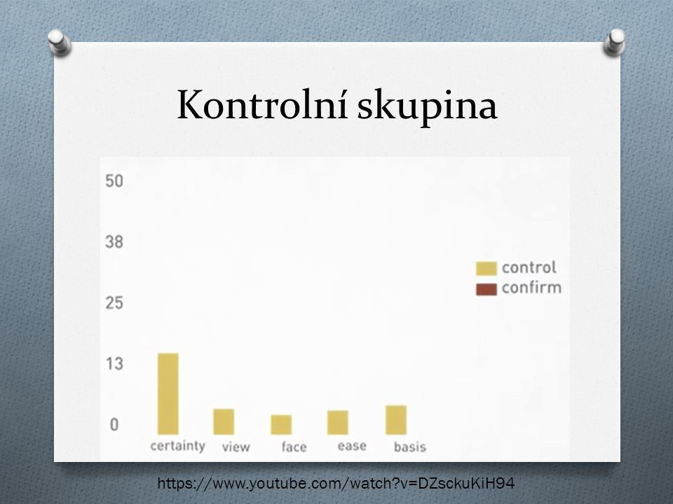 Kontrolní skupina https://www.youtube.com/watch v=DZsckuKiH94