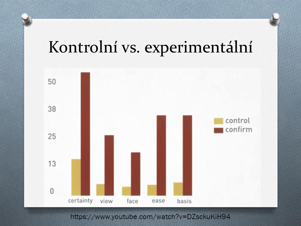 Kontrolní vs. experimentální
