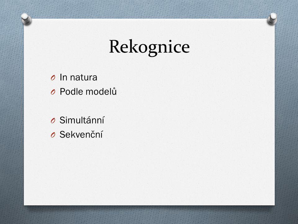 Rekognice In natura Podle modelů Simultánní Sekvenční