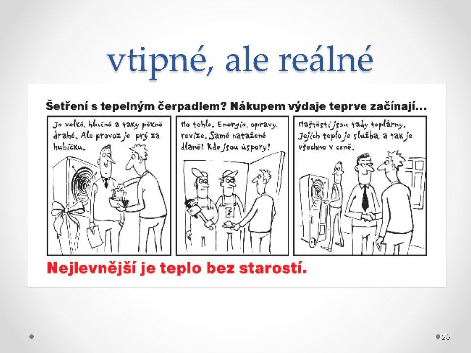 vtipné, ale reálné Komiks poskytly Teplárny Brno, a.s.