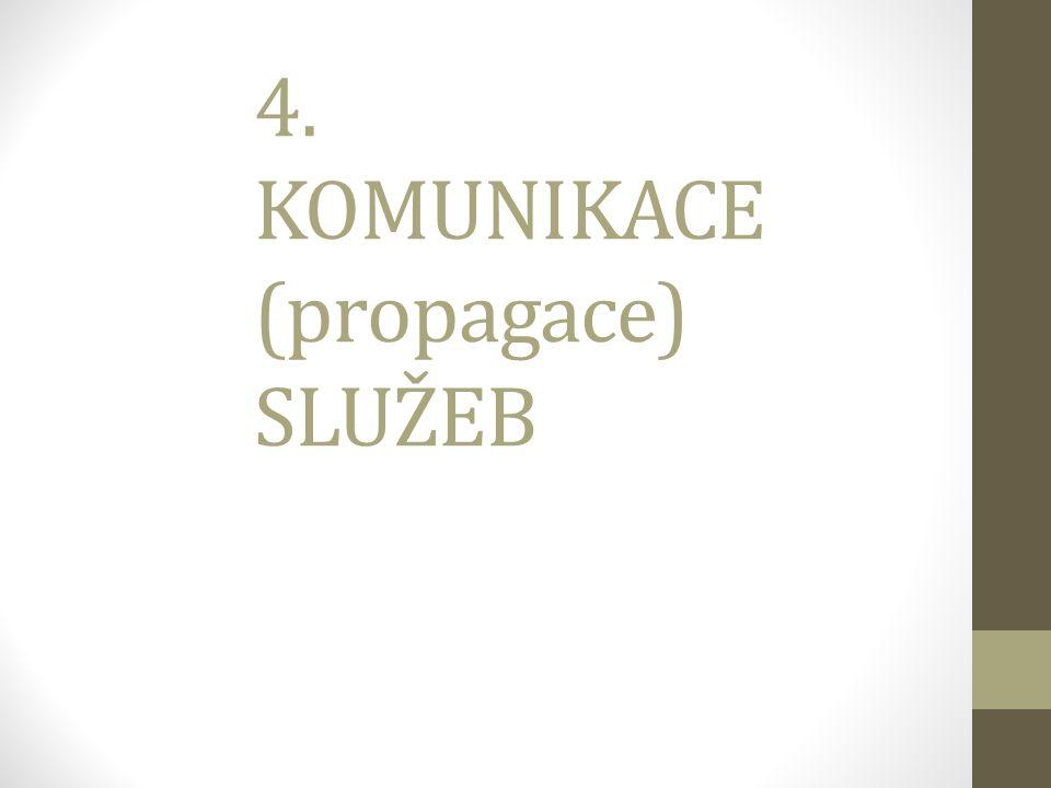 4. KOMUNIKACE (propagace) SLUŽEB