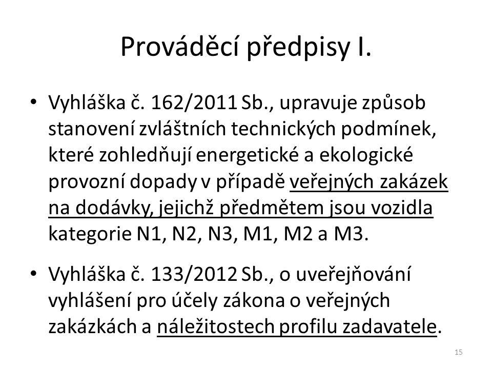 Prováděcí předpisy I.