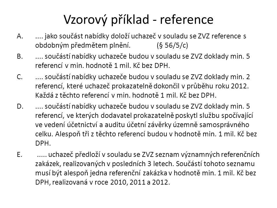 Vzorový příklad - reference