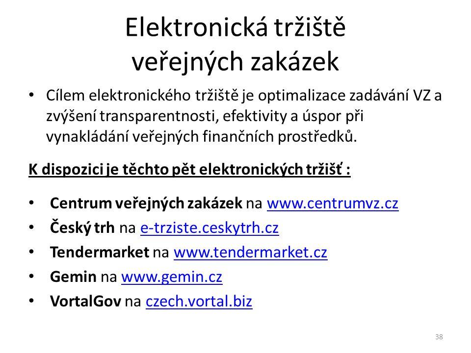 Elektronická tržiště veřejných zakázek