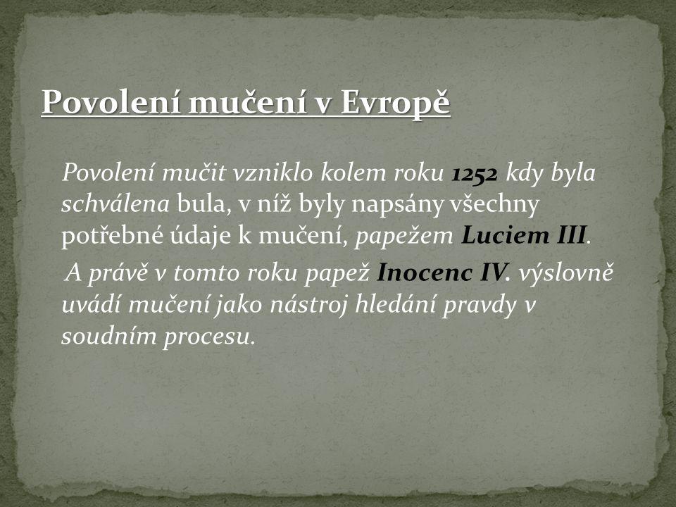 Povolení mučení v Evropě