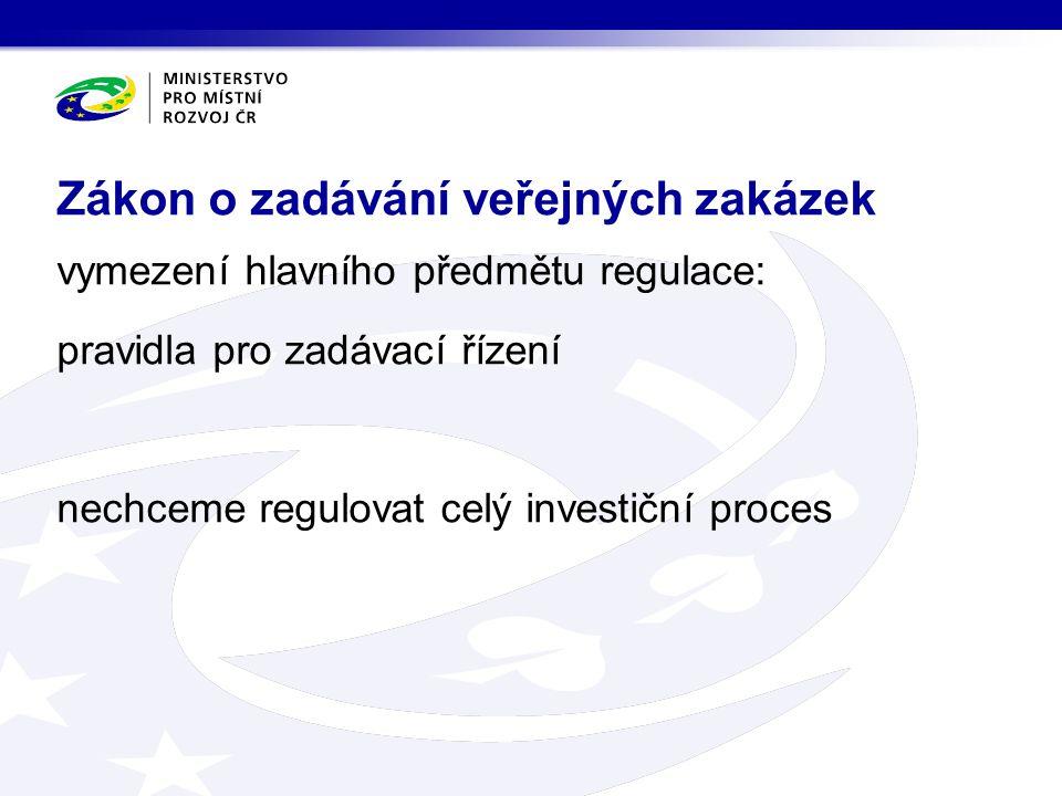 Zákon o zadávání veřejných zakázek