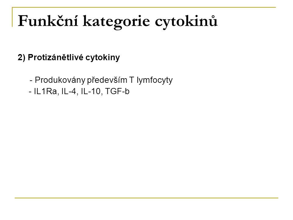 Funkční kategorie cytokinů
