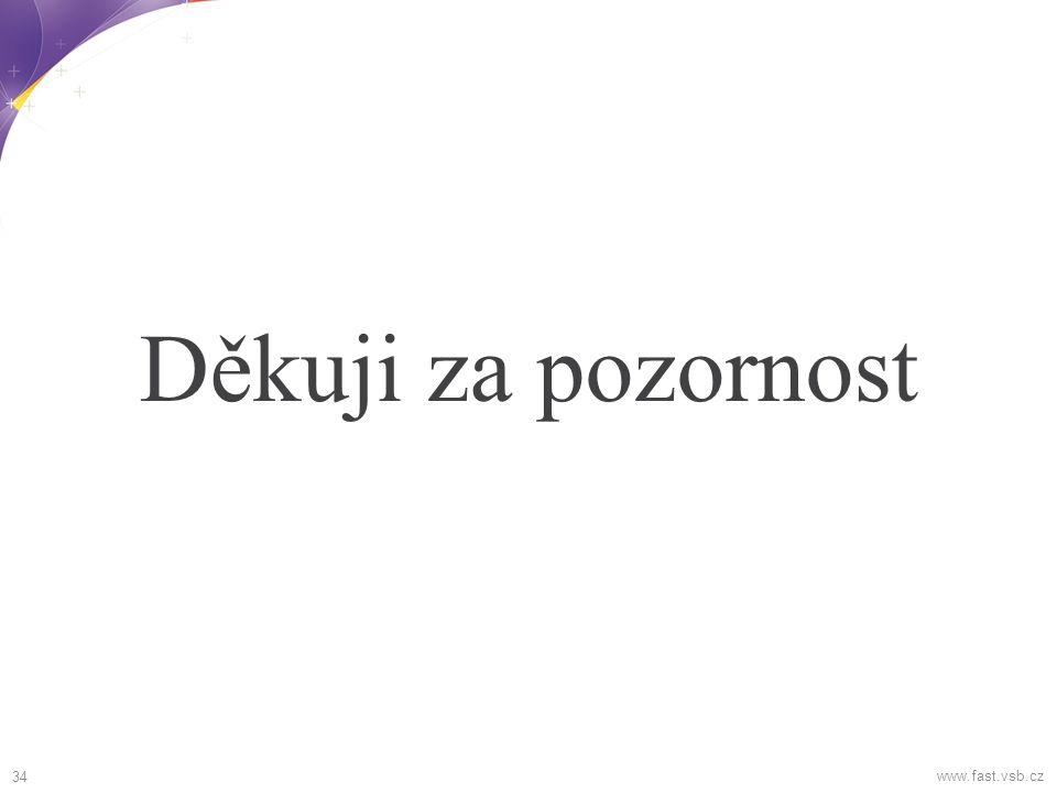 Děkuji za pozornost www.fast.vsb.cz