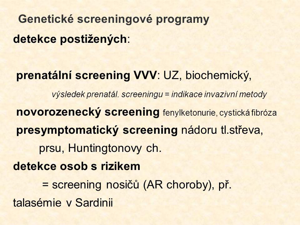 Genetické screeningové programy