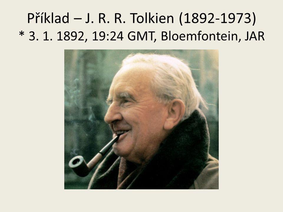 Příklad – J. R. R. Tolkien (1892-1973). 3. 1