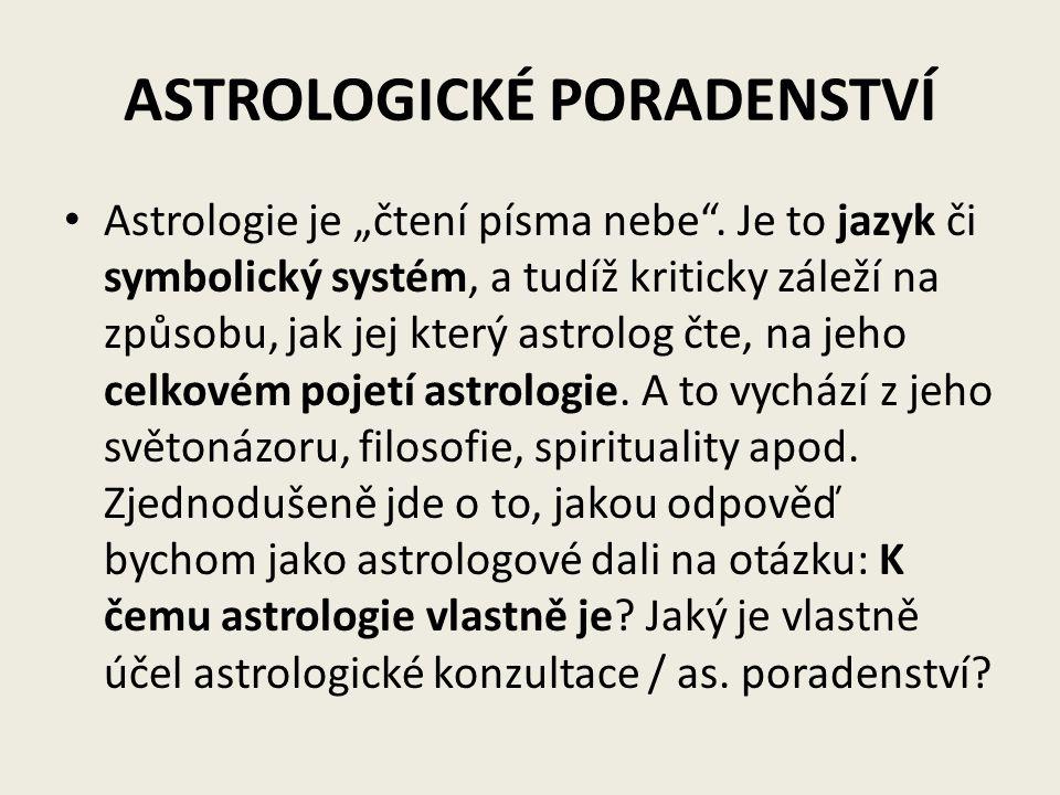 ASTROLOGICKÉ PORADENSTVÍ